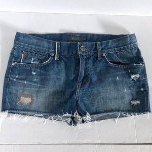 Anthropologie Level 99 Distressed Denim Shorts 29
